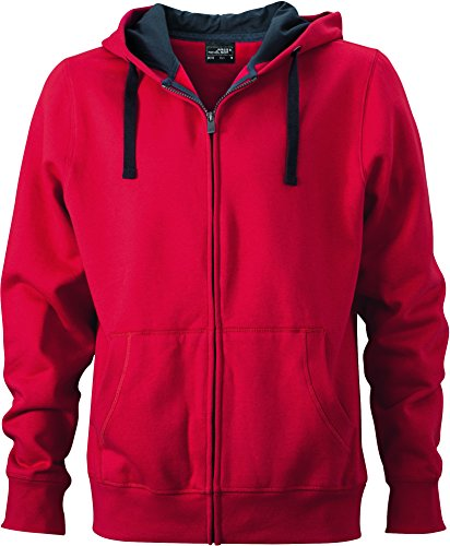 Felpa Hooded Con In Men's Giacca carbon Red Jacket finish Bionic® fa5xgq