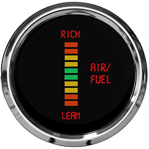 Intellitronix MS7008 LED Air/Fuel Ratio Gauge 2 1/16 Lean/Rich Elect Chrome - Autometer Air Fuel Ratio Gauge