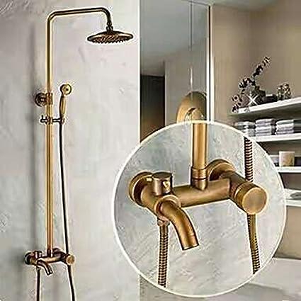 blyc- ducha de conjunto de Booster cobre antiguo baño ducha fría y caliente ducha grifo