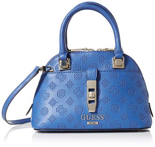GUESS Peony Classic Small Dome Satchel, Cobalt (Best Classic Handbags 2019)