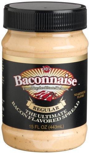 Baconnaise Bacon - J&D's Baconnaise Bacon Flavored Spread, Regular, 15-Ounce Jars (Pack of 3) (6 pack)