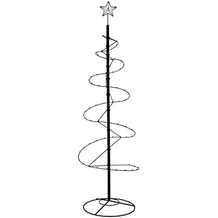 HOHIYA Ornament Display Tree Stand Metal Christmas Halloween Wire Hook Hanger Dog Cat Bauble Ball Glass 84inch Black