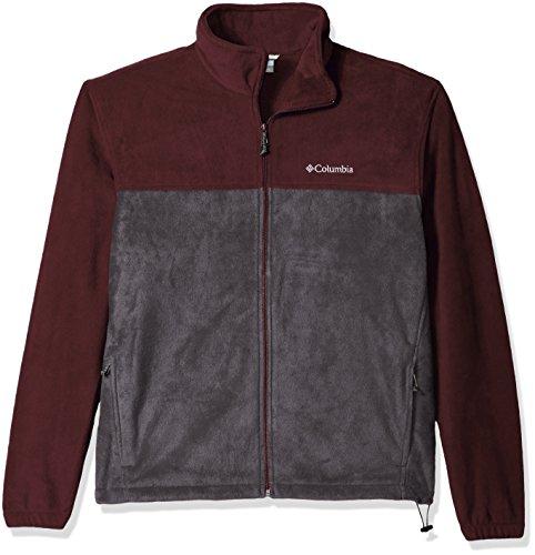 Explorer Mens (Columbia Men's Cascades Explorer Full Zip Fleece Jacket, Elderberry/Shark, Small)