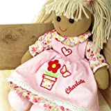 Personalised Flower pot rag doll Handmade girls birthday powell craft medium doll 40cm