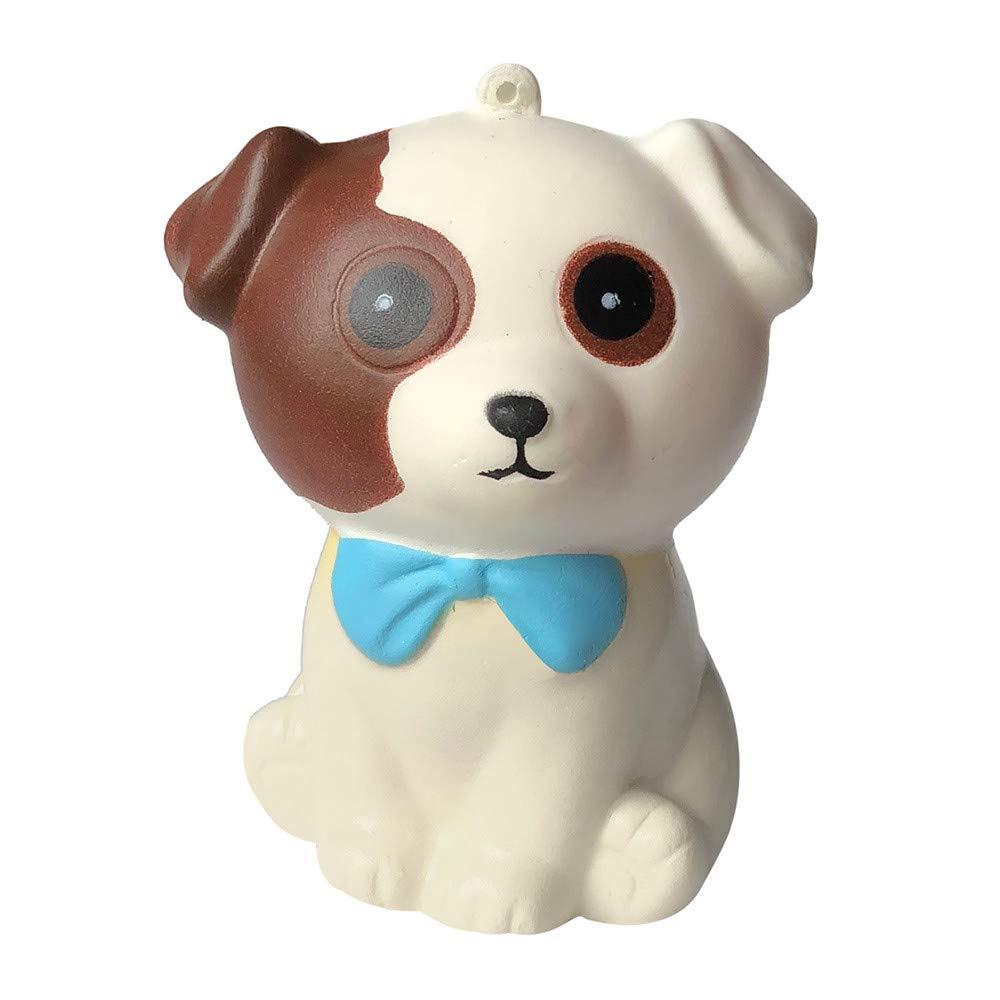 Sunbona❤️ Clearace Adorable Tie Puppy Cream Scented Slow Rising Healing Fun Toys Kids Gifts (White)
