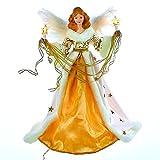 Kurt Adler 10-Light 16'' Cream and Gold Angel Treetop