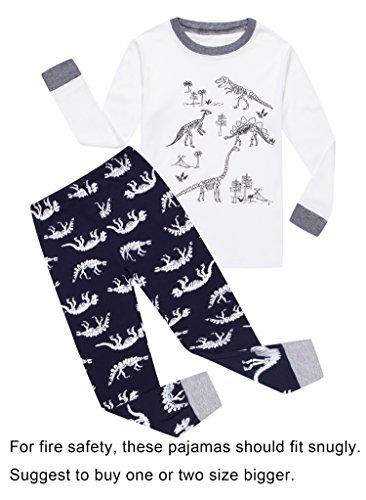 1663ed74d Verafahion Little Big Boys  2-Piece Kid PJS Long Sleeve Pajama Set ...