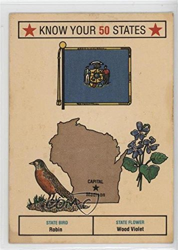 Wisconsin COMC REVIEWED Poor (Trading Card) 1975 Bel-Art Know Your 50 States - Food Issue [Base] #30 -