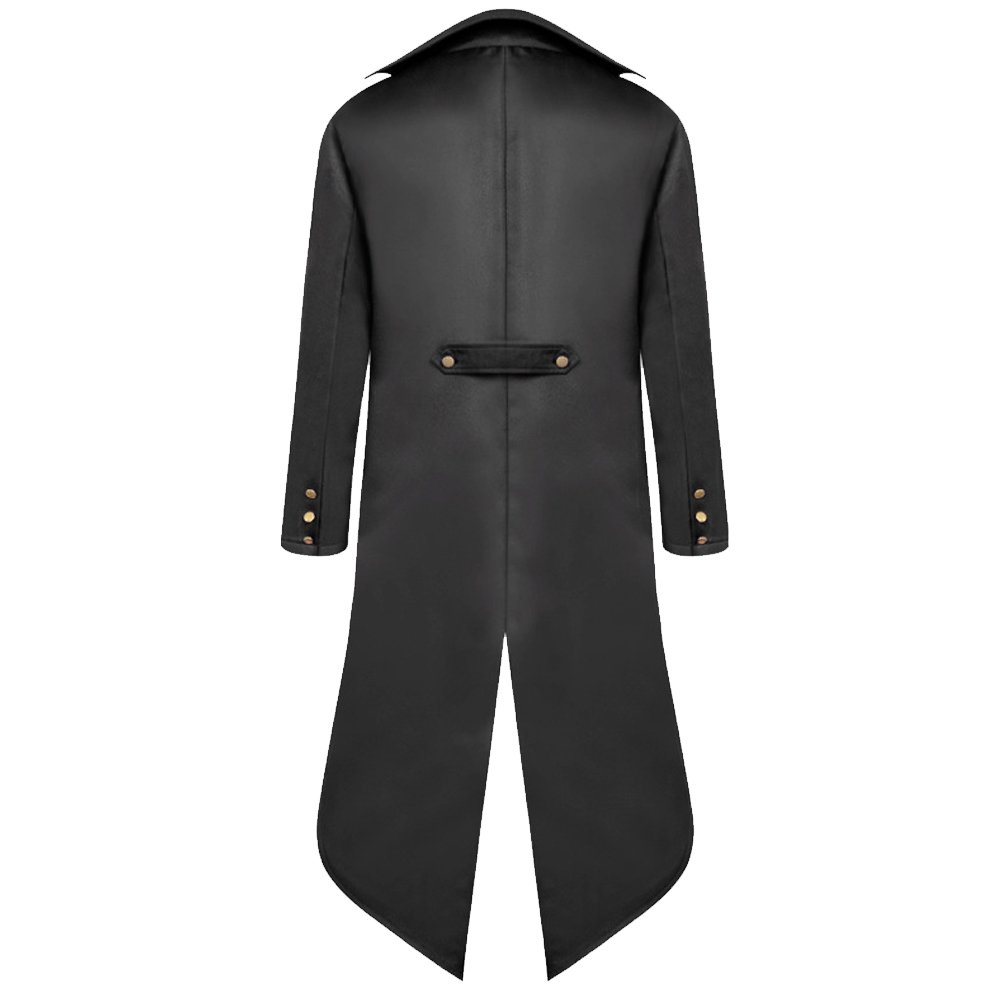 H&ZY Men's Steampunk Vintage Tailcoat Jacket Gothic Victorian Frock Coat Uniform Halloween Costume by H&ZY (Image #2)