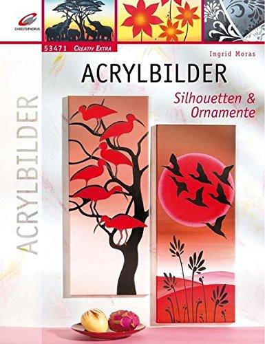 Acrylbilder: Silhouetten & Ornamente