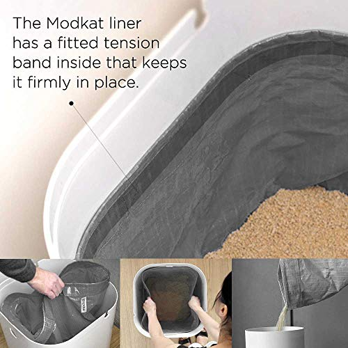 Modkat Litter Box, Top-Entry, Looks Great, Reduces Litter Tracking - White