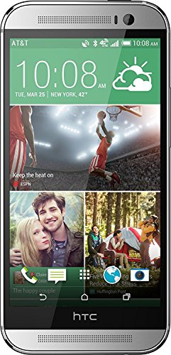 HTC One M8 32GB 4G LTE Unlocked GSM Android Cell Phone - Silver (Htc One Cell Phone At&t)