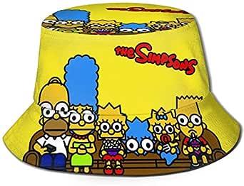 LCYYDECO Hombre Cartón Simpsons Natural Cómodo Pescador Gorras ...