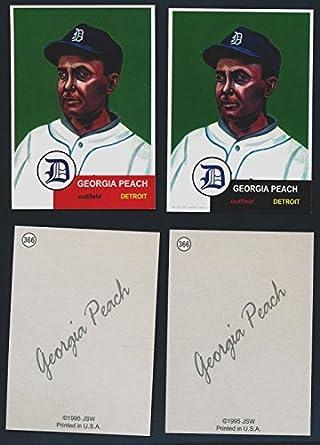 Amazon com: 1995 JSW Baseball #366 Ty Cobb Georgia Peach 43
