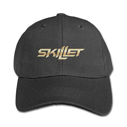 Big Boys' Skillet Band Gold Logo Baseball Snapback Cap - Band Hat Skillet