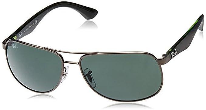 c0bf8971cf Ray-Ban RB3502 Sunglasses Matte Gunmetal   Green 61mm   Cleaning Kit Bundle