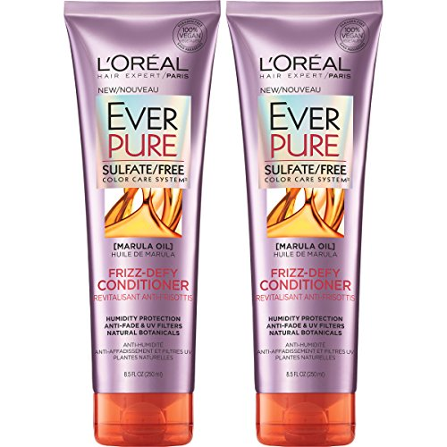 LOreal Paris Hair Care Ever Pure Sulfate Free Frizz Defy Conditioner, 2 Count
