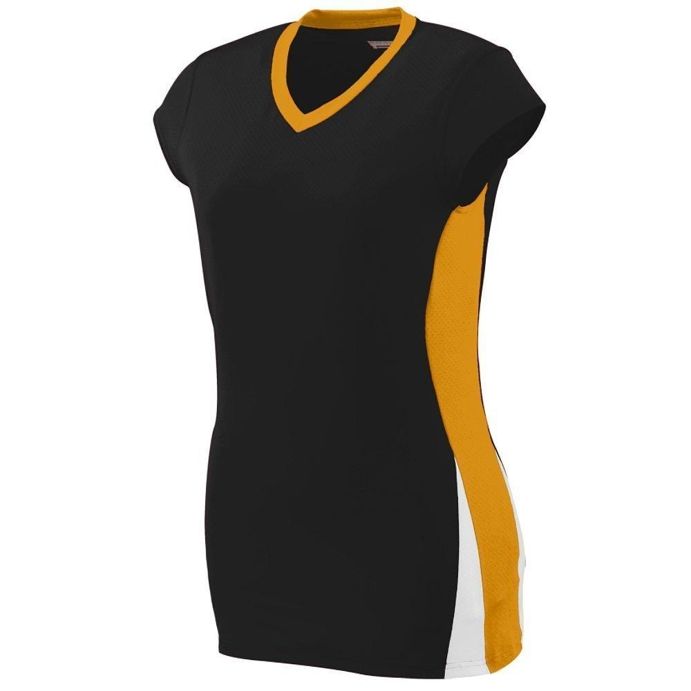 Augusta Sportswearレディースヒットジャージー B00HJTOYI4 Medium|ブラック/ゴールド/ホワイト ブラック/ゴールド/ホワイト Medium