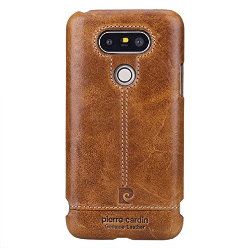 pierre-cardin-genuine-leather-cover-snap-on-hard-case-skin-slim-fit-for-lg-g5-brown
