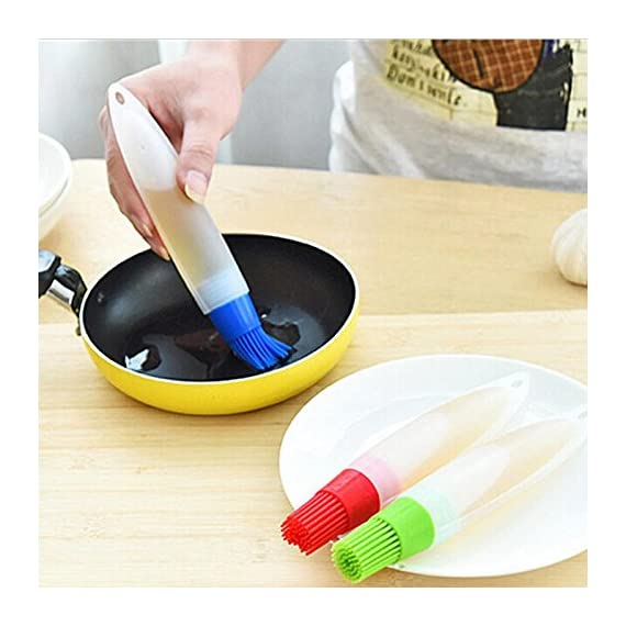 Ruimin 1pc Multifunction Silicone Grill Barbecue Baking Pastry Oil Honey Sauce Bottle Brush with Dispenser For Baking Grilling Basting Marinating 8 Not include toxic ingredients Easy to use,convenient to clean Ergonomics brush handle design,Simple and beautiful design