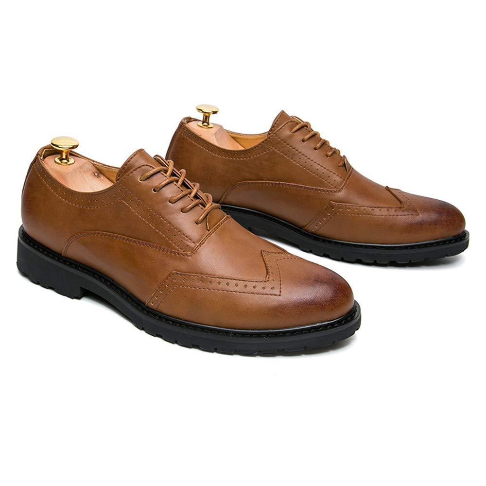 JIALUN-Schuhe Herren Classico Business Oxford Lässige Mode PU Leder Anti-Rutsch Anti-Rutsch Anti-Rutsch Atmungsaktive Brogue Schuhe (Farbe   Schwarz, Größe   44 EU)  3a602f