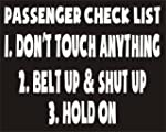 Passengers Check List Belt up & Shut...