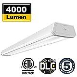 Linkable 4000 Lumen Wrap Light 4FT 40W LED Shop Lights for Garage Wraparound Light BBOUNDER 5000K Daylight White Ultra Bright Flush Mount Ceiling Light Fixture for Storage Workbenches Office (1 Pack)