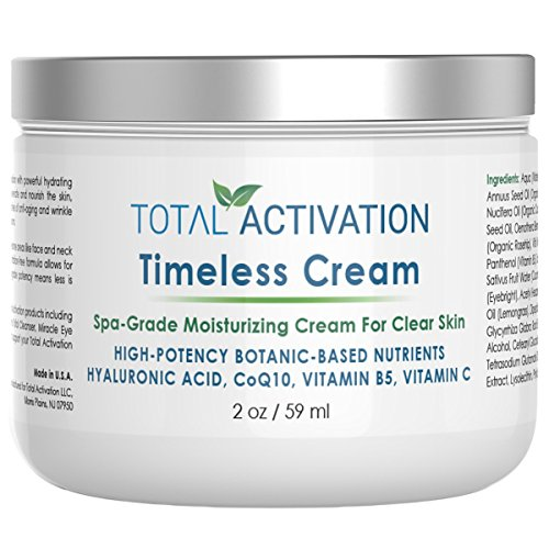 Collagen Moisturizing Face Cream Day & Night, Dry/Oily & Sensitive Skin, Natural Clear Face Moisturizer, Collagen Protein Peptides, Anti Aging & Anti-Wrinkle with Natural Hyaluronic Acid, CoQ10, 2 oz
