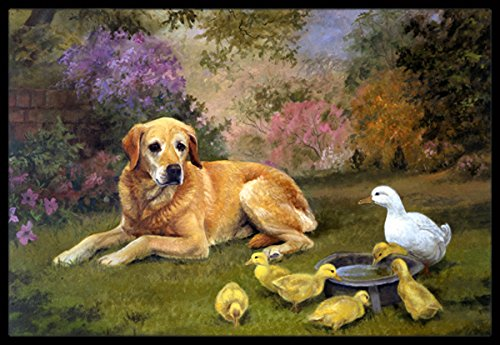 Yellow Labrador Doormats Kritters In The Mailbox