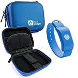 DURAGADGET Blue Hard EVA Shell Case with Carabiner Clip & Twin Zips for the SoundMoovz Musical Bandz