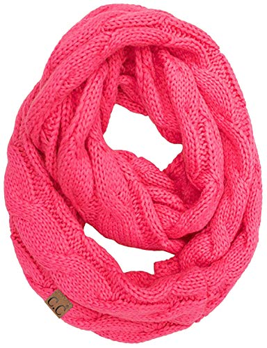 Candy Scarf - S1-6100-80 Funky Junque Infinity Scarf - Candy Pink