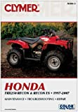 Honda TRX250 Recon and Recon ES, 1997-2007, Clymer Publications Staff, 1599691760