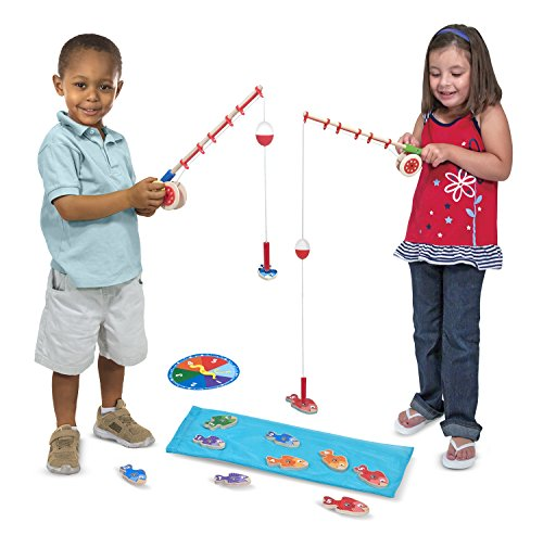 [Melissa & Doug Catch & Count Wooden Fishing Game With 2 Magnetic Rods] (National Costume Of All Countries)