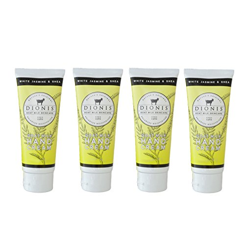 Dionis Goat Milk Hand Cream 4 Piece Travel Gift Set - White Jasmine & Shea