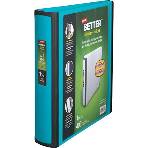 Staples Better 1.5-Inch D 3-Ring View Binder, Teal (13468-CC) by Staples