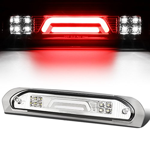 For 02-09 Dodge RAM Truck All 3D LED Bar 3rd Third Tail Brake Light Rear Cargo Lamp (Chrome/Clear)