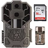 Stealth Cam Dual Sensor STC-DS4K Trail Camera, 30 Megapixel/4K Ultra HD Video + 16GB Card and Focus USB Reader