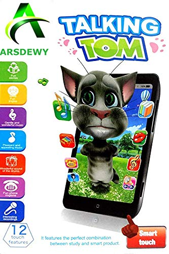 7f068da4ac6f6 Buy ARSDEWY Mobile Talking Tom Interactive Learning Tablet for Kids (Black  and White) Online at Low Prices in India - Amazon.in