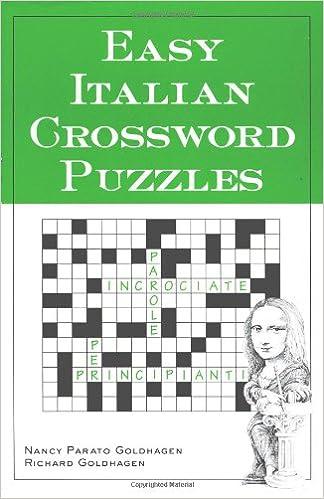Amazon.com: Easy Italian Crossword Puzzles (Language - Italian ...