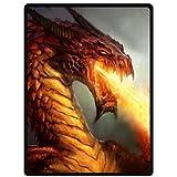 "ferocity Dragon Super Soft Plush Queen Size Blanket 58"" x 80"" (Large)"
