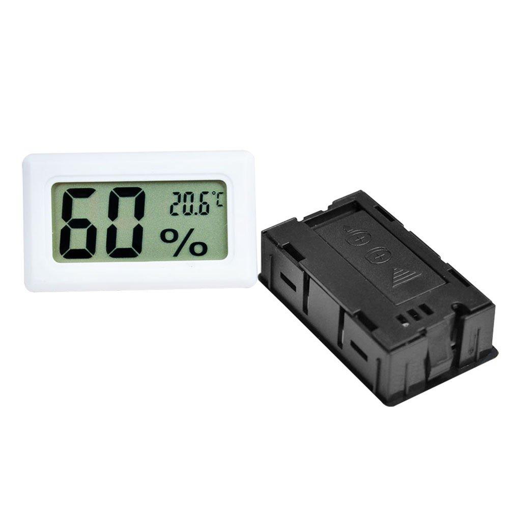 Szaerfa Digital LCD Thermomètre Hygromètre Température Humidité -50 ~ 70 ℃ 10% ~ 99% RH (Noir)
