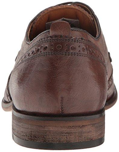 Steve Madden Mens Analog Oxford Cognac Leather