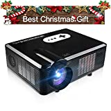 FastFox HD Projector Full Color 720P 3000 Lumens Analog TV Single LCD Panel LED Technology Multimedia Beamer Home Proyector for Theater Tablet Video Movie Bussiness