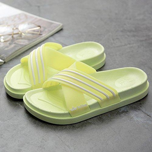 di mela1 in antiscivolo uomini Le le DogHaccd da bagno gli pantofole en pantofole plastica una con donna pantofole home stanza Verde bagno estate soggiorno e freddo coppie morbide scarpe suite spessa TATtxwa