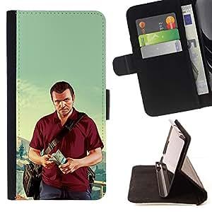 Momo Phone Case / Flip Funda de Cuero Case Cover - G T A - Michael Poster - HTC Desire 820