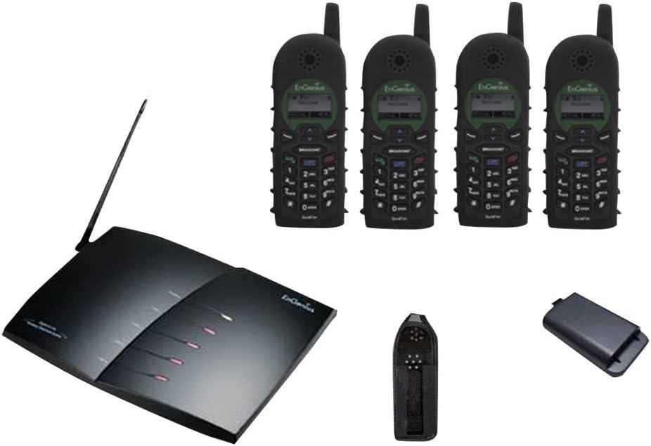 EnGenius Technologies DURAFON-PRO-PIA 900 MHz Radio Frequency, 90-Handset 4-Line Landline Telephone