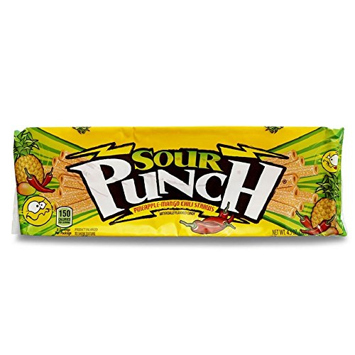 Mango Punch (Sour Punch Straws, Sour Pineapple Mango Chili, 4.5oz Tray  (24 Pack))