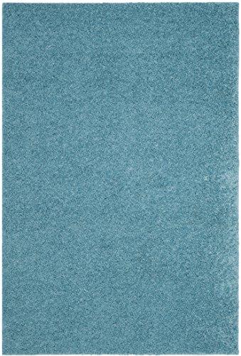Safavieh Arizona Shag Collection ASG820T Southwestern Aqua Area Rug (9' x 12') ()