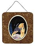 Caroline's Treasures Starry Night Welsh Terrier Aluminum Metal Wall or Door Hanging Prints, 6 x 6