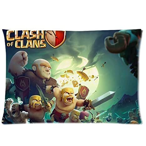 TSL806 Custom Games Clash of Clans COC Pillow Case Cover ...